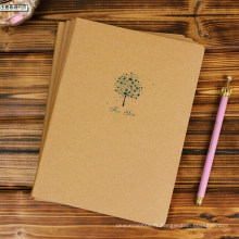 Cahier d'exercices de couverture de papier kraft