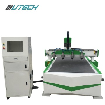 Multi spindles Cnc router cutting machine for solidwood