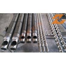 Einzelne Schraube und Fass für Extrusionsmaschinen