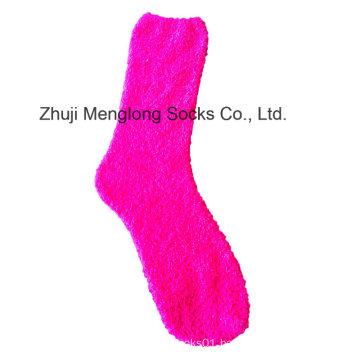 Lady Microfiber Fuzzy Socks Feather Yarn Woman Socks