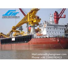 Para equipamentos de carga e elevação de cargas a granel em navios e transbordo