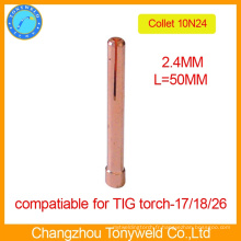 10N24 2.4mm TIG soudure pièces collet collet