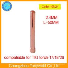 10N24 2.4mm TIG welding parts copper collet