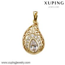 32282 xuping 14k gold diamond jordan pendant