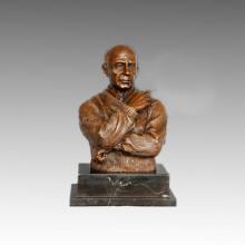 Statue en bustes Petite sculpture Picasso en bronze, Milo TPE-810