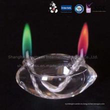 Diseño elegante Diversa vela del cumpleaños de la llama del color de lujo de la capa doble del modelo