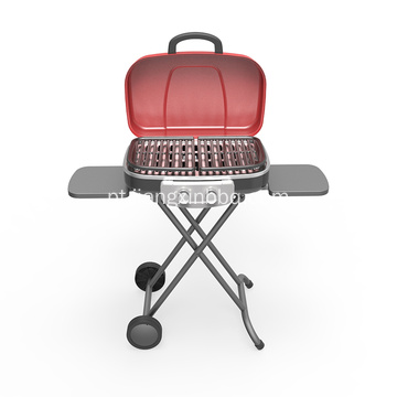 Trolley Portable Gas Grill Com 2 Queimadores