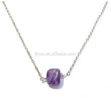 Мода Boho Натуральный Камень Аметист Отводками Ожерелье