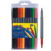 10 PC's dubbele Tip Water kleur Pen instellen
