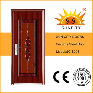 Economical Factory Sale Exterior Front Stainless Steel Door (SC-S003)