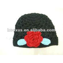 Los casquillos de los niños sombreros del bebé que hacen punto sombreros florecen el casquillo del sombrero del ganchillo del bebé del sombrero bordan el sombrero