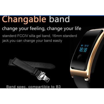 Surveillance dynamique du rythme cardiaque, surveillance du sommeil, étapes, mouvement Wechat interconnecté, Smart Bluetooth comme l'un des Smart Watch