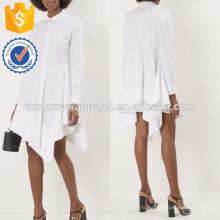 Новая мода Белый платье рубашка с асимметричным подолом Производство Оптовая продажа женской одежды (TA5252D)