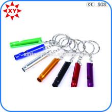 Высокое качество пользовательских блестящие красочные свистки брелки