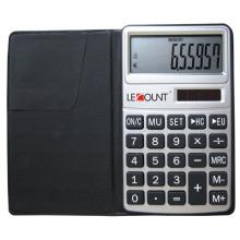 10-stelliger Rechner mit Euro-Konverter-Funktion und schwarzer Geldbörse (LC303EURO)