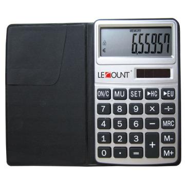 Калькулятор 10 цифр с функцией евро-конвертера и черным кошельком (LC303EURO)