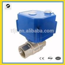 Válvula motorizada de 2 vías DC3-6V con anulación manual para el proyecto del sistema de agua de Dirink.