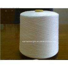 42/2 Raw White on Plastic Tube Tfo Virgin Bright 100% Spun Polyester Yarn
