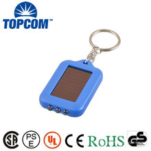 Precio de fábrica 3 LED de ahorro de energía recargable Solar Powered LED Keychain