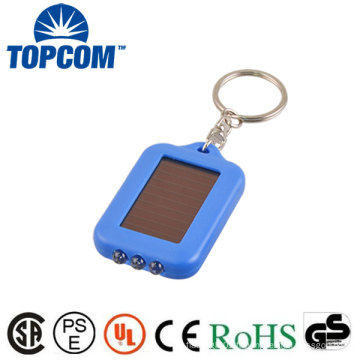 Prix d'usine 3 LED Économie d'énergie Rechargeable Solar Powered LED Keychain