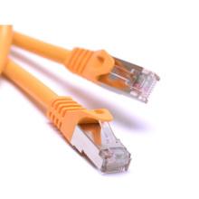 Câble de réseau à grande vitesse jaune câble cat5e