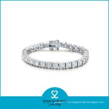 Браслет ювелирных изделий серебра AA CZ каменный (SH-B0009)