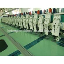 12 + 12 cabezas mezclan la grabación plana de Cording de la cinta que borda la máquina
