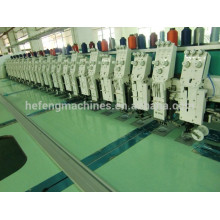 Machine de broderie à bobines à bobines plates à 12 + 12 cordes