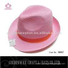 Girls pink fedora hats Atacado