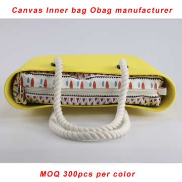 Custom Yellow Obag Rope Handle With Canvas Inlägg