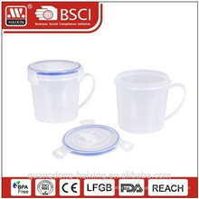High quality airtight plastic food storage container with handle