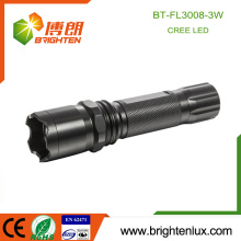 Factory Hot Sale Tactical Handheld 3 modes Light Multi-functional High Power 3watt Aluminum Best Cree led Flashlight