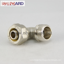 Brass Compression Fitting with Male Thread Elbow