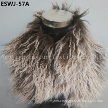 Long Pile Natural Mongolian Fur Scarf Eswj-57A