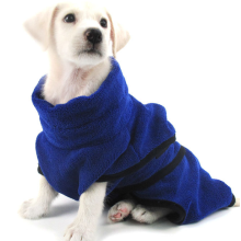 Microfiber Pet Bathrobe Super Absorbent With Waist Belt