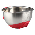 Stainless Steel Colander with Side Drainers