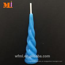 Top Fornecedor Pure Parafina Luz Azul Unicorn Vela Bolo De Aniversário Topper
