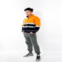 Reflector naranja luz polar ropa de trabajo