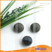 Botón de tela de tela de tapa con respaldo de plástico BM1252
