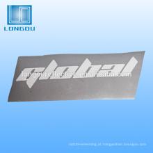 logotipo reflexivo de transferência de calor ou rótulos