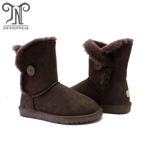 Customized fashion warm sheepskin winter snow boots