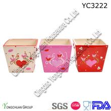 Pots de plantes carrées en céramique pour décoration