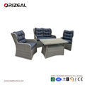 Outdoor Rattan 4PCS High Back Queen Sofa Set OZ-OR064