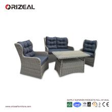 Outdoor Rattan 4PCS High Back Queen Sofa Set OZ-OR064
