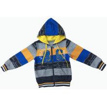 Homens / Boy Hoody Cardigan moda listra