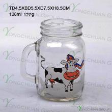 Mini Glas Jar Clear mit Griff Glas Mason Gläser zum Verkauf