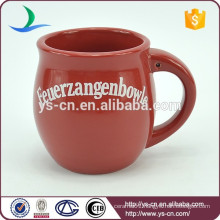 YScc0025-01 Red decal christmas stoneware ceramic mug