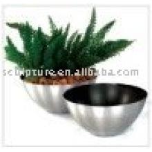 stainless steel garden or hotel flowerpot