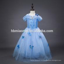 2016 новая мода светло-голубой цвет кино косплей ребенок платье принцессы оптовая