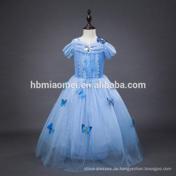 2016 neue Mode Hellblau Farbe Film Cosplay Kind Prinzessin Kleid Großhandel